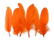 1 Pack - Orange Goose Satinettes Loose Feathers 0.3 Oz.