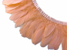1 Yard - Peach Goose Nagoire And Satinettes Feather Trim