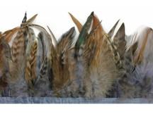 1 Yard - Grey Chinchilla Rooster Schlappen Feather Trim