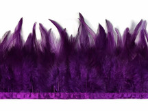 1 Yard - Purple Rooster Neck Saddle Hackle Feather Wholesale Trim