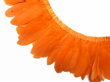 1 Yard - Orange Goose Nagoire And Satinettes Feather Trim