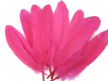 1/4 Lb - Hot Pink Goose Satinettes Wholesale Loose Feathers (Bulk)