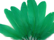 1/4 Lb - Kelly Green Goose Satinettes Wholesale Loose Feathers (Bulk)