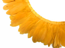1 Yard - Gold Goose Nagoire And Satinettes Feather Trim