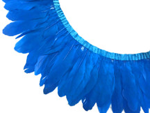 1 YARD - BLUE Goose Nagoire and Satinettes Feather Trim