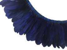 1 YARD - NAVY Goose Nagoire and Satinettes Feather Trim