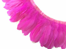 1 Yard - Hot Pink Goose Nagoire And Satinettes Feather Trim