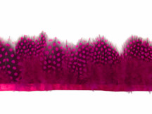 1 Yard - Hot Pink Guinea Hen Plumage Feather Trim