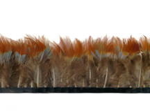 1 Yard - Yellow Ringneck Pheasant Plumage Feather Trim