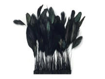 Black dyed soft delicate feather trim