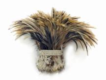 1 Yard - Golden Badger Strung Rooster Neck Hackle Wholesale Feathers (Bulk)