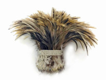 Golden Badger Strung Rooster Neck Hackle Wholesale Feathers (Bulk)