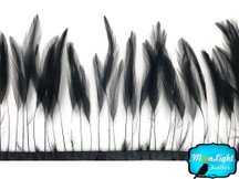Black Stripped Rooster Hackle Wholesale Feather (Bulk