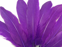 1/4 Lb - Purple Goose Satinettes Wholesale Loose Feathers (Bulk)