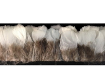 1 Yard - White Round Lady Amherst Pheasant Plumage Feather Trim