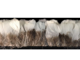 White Round Lady Amherst Pheasant Plumage Feather Trim