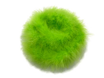 2 Yards - Lime Green Turkey Medium Weight Marabou Feather Boa 25 Gram