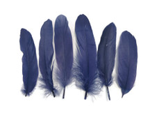 Navy Blue Goose Satinettes Loose Feathers 0.3 Oz.