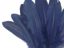 1/4 Lb - Navy Blue Goose Satinettes Wholesale Loose Feathers (Bulk)