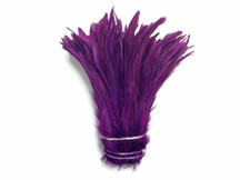 1/2 Yard -  Purple Strung Natural Bleach And Dyed Coque Tails Wholesale Feathers (Bulk)