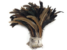 1/2 Yard - Natural Brown Half Bronze Coque Tail Strung Wholesale Feathers (Bulk)