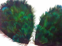 1 Piece - Iridescent Green Peacock Plumage Feather Pad