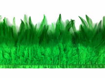 1 Yard - Christmas Green Rooster Neck Saddle Hackle Feather Wholesale Trim