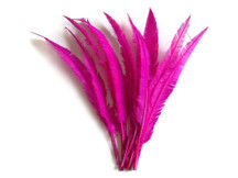 1/2 Lb  - Hot Pink Ostrich Nandu Trimmed Long Wholesale Feathers (Bulk)