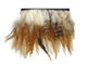 Natural fluffy striped short rooster feathers for sewing