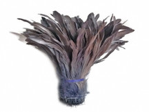 1/2 Yard -  GREY Strung Natural Bleach Coque Tails Wholesale Feathers (bulk)