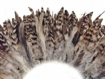 4 Inch Strip - Grey Chinchilla Strung Rooster Schlappen Feathers
