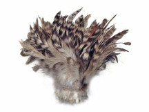 1 Yard - Grey Chinchilla Strung Rooster Schlappen Wholesale Feathers (Bulk)