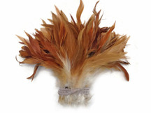 Natural Red Strung Schlappen Rooster Wholesale Feathers (Bulk)