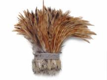 1 Yard - RED CHINCHILLA Strung Rooster Neck Hackle Wholesale feathers (bulk)