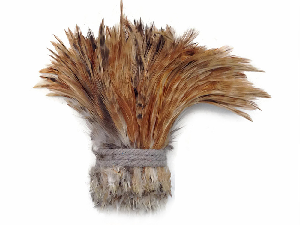 RED CHINCHILLA Strung Chinese Rooster Saddle Wholesale feathers bulk 1 Yard