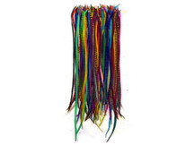 30 Pieces - Wholesale Xl Thin Long Mix Rooster Hair Extension Feathers (Bulk)