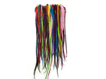 30 Pieces - Wholesale Xl Thick Long Mix Rooster Hair Extension Feathers (Bulk)
