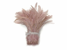 Dusty pink fluffy rooster feathers