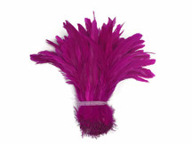 Hot pink fluffy soft rooster feathers