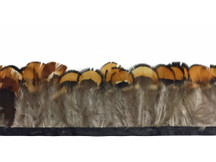 Natural colored and patterned small feather trim