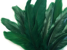 Dark green fluffy goose feathers