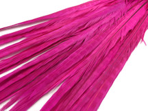 "20-22"" Hot Pink Long Ringneck Pheasant Tail Wholesale Feathers (Bulk)"