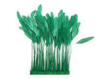 Soft green eyelash trim feathers