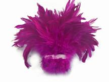 Deep pink strip of soft wispy feathers