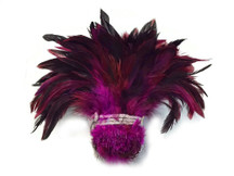 Strip of fluffy soft sturdy pink multicolor feathers