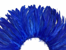 Bright blue dyed rooster feathers for crafts