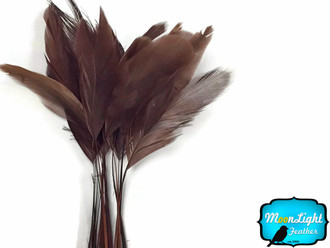 1 Yard - Brown Stripped Coque Tail Feathers Wholesale (Bulk)
