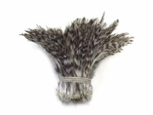 1 Yard - Grey Chinchilla Strung Rooster Neck Hackle Wholesale Feathers (Bulk)