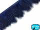 1 Yard - Navy Blue Guinea Hen Plumage Feather Trim