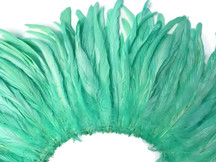 Light blue green feathers fluffy sturdy